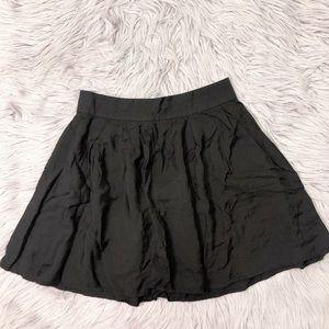 UO Kimchi Blue Black Skater Mini Skirt
